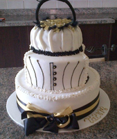 21st Birthday Cake White.gold.black by Lucrecia1511