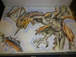 The Fire Wyvern by Storm-Chasr