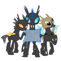 Three OC Changelings by Xyotic