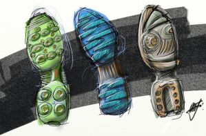 Shoe sole designs by Pnugget