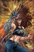 Witchblade color fanart by aladecuervo