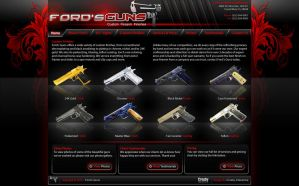 Ford's Guns website design by Stephen-Coelho