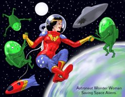 TLIID Wonder Woman for Amelia - astronaut by Nick-Perks