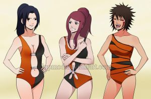 NHS theme 04: Mikoto, Kushina, Tsume by JuPMod