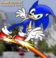 100,000 Hits by anotherblazehedgehog