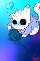 Cheshire Sans n The Yarn Ball by Twitchy-Senpai