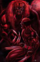Wolverine vs Sabertooth by edtadeo