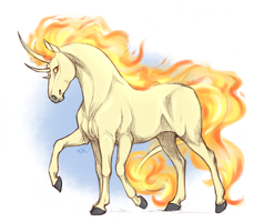 fan art invasion, mega rapidash