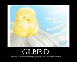 Gilbird motivational poster by Wolfychan05