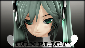 MMD - Conflict Miku Wallpaper by YellowDesuCake