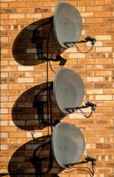 Sky TV digital Satellite dishes by DundeePhotographics