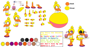 Toy Chica the Chicken Builder by SouthParkArtist135