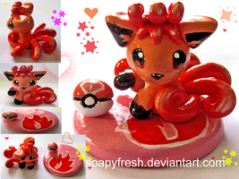 Vulpix Figurine by SoapyFresh