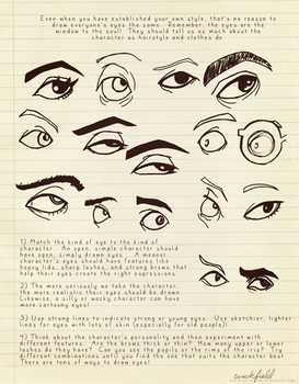 Style Tips: Drawing Eyes by Wickfield