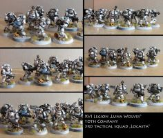 Luna Wolves - tactical squad Locasta by vulpescorax