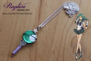 Sailor Neptune Wand Pendant by RaptureJewelry