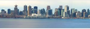 Vancouver Downtown Core Pano by harbours-of-light