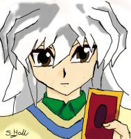 Bakura and his favourite card by Sephiano