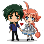 FxA chibis - Holding hands by amako-chan