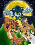 Wolves fight!!! by boy-wolf