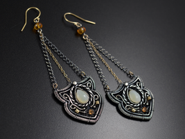 Baroque pendulum earrings by JoannaWatracz