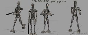 IG-88 Lowpoly Game model by MrMoldavia