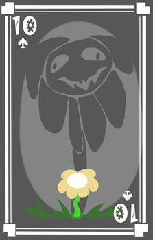 Flowey the Ten of Spades by pika-chan2000
