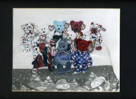 Red White n Blue Beanie Babies by Patches614