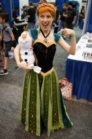 Popcon Indianapolis 2014 Anna and Olaf by SirKirkules
