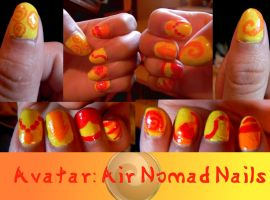 Avatar: Air Nomad Nails by Celeste707