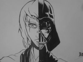 Anakin/Vader in my version on manga! by DonDrawing