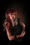 Here Kitty by tbdoll