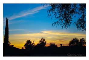 Sunset From Front Yard by jpnunezdesigns