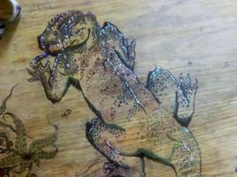 Lizzard Table Art by girfreak8