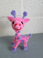 Pipe Cleaner Pink Giraffe by DarkSaberCat