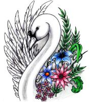 Swan tattoo design by Shadow3217