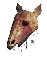 scary horse face mask by MallonIllustration