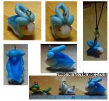 Shiny Suicune Chibi Charm by Swadloon