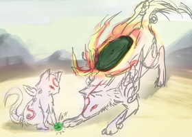 Okami Thing 2 by trombonefellow