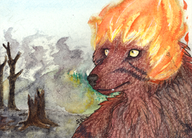 ACEO/ATC: The Element of Destruction by Samantha-dragon