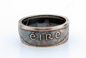 Irish 1 Pingin EIRE Coin Ring by TCSCustoms