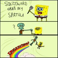 SQUIDWARD GRAB MY SPATULA by SailorXStar