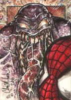 Spider-Man Venom Sketch Card by ChrisMcJunkin