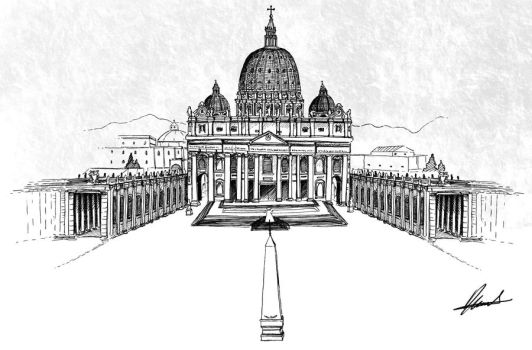 St. Peter's Basilica by diegoa4545