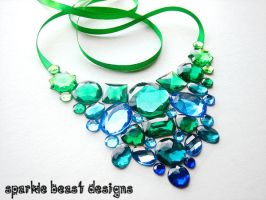 Blue and Green Gem Bib by Natalie526