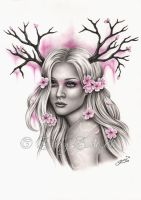 Cherry Blossoming by Zindy