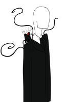 Tinyman and Slenderman by Lutrasauro