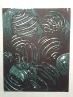 Submerged Spheres_printmaking by ShyHowl