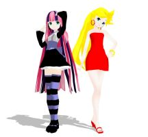 MMD Panty and Stocking DOWNLOAD by pianomanjojo