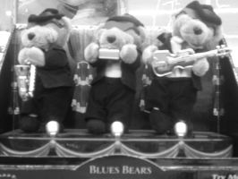 Blues Bears black and white by sparky1393